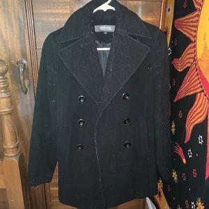 Black winter pea coat